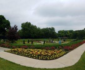 Phillips Park sunken gardens Aurora IL