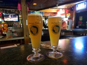 Spotted Cow at the Turtle Tap in Beloit by Flower Chick