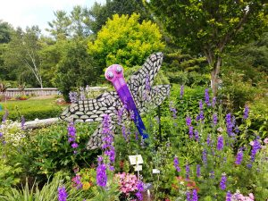 Dragonfly sculpture at Rotary Botanical Gardens in Janesville by Flower Chick