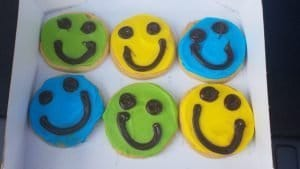 Smiley Face Cookies Handy Foods Ottawa IL FlowerChick.com