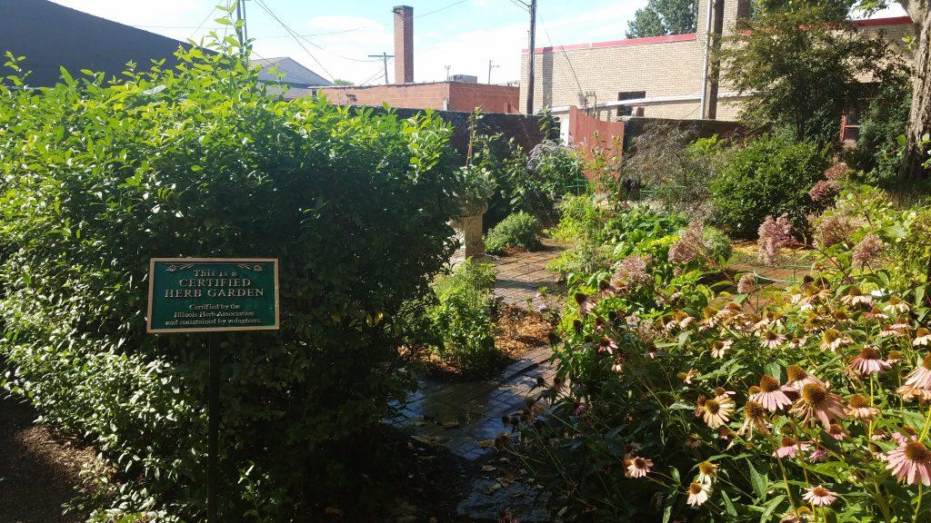 Herb Garden at Reddick Mansion by Flower Chick