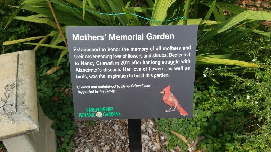 Mother's Memorial Garden at Friendship Botanic Garden by FlowerChick.com