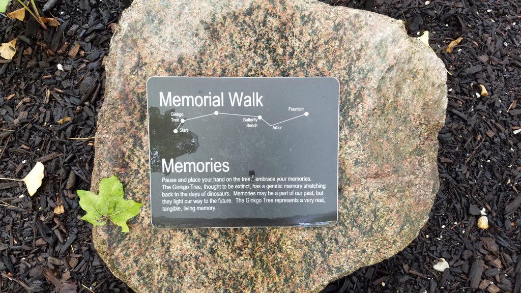 Memorial Walk at Luthy Garden by FlowerChick.com