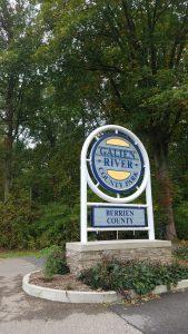 Galien River Park sugn by FlowerChick.com