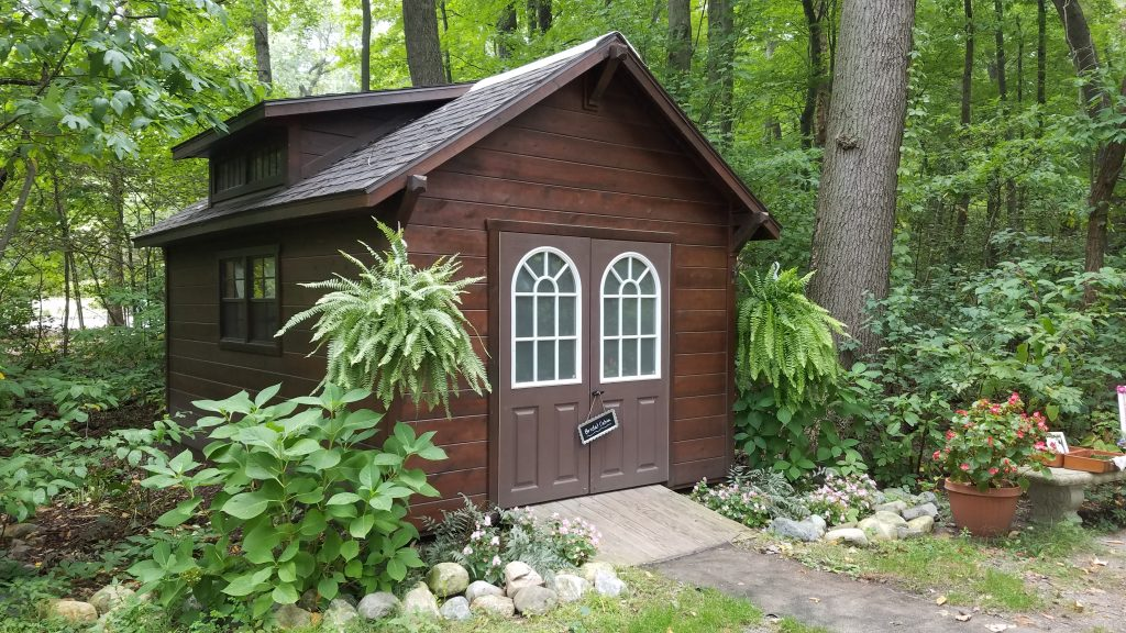 The Bridal Cabin at Friendship Botanic Gardens Michigan City IN by FlowerChick.com