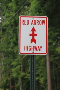Red Arrow Highway sign by FlowerChick.com