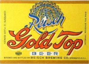 Reisch Gold Top Beer Springfield IL