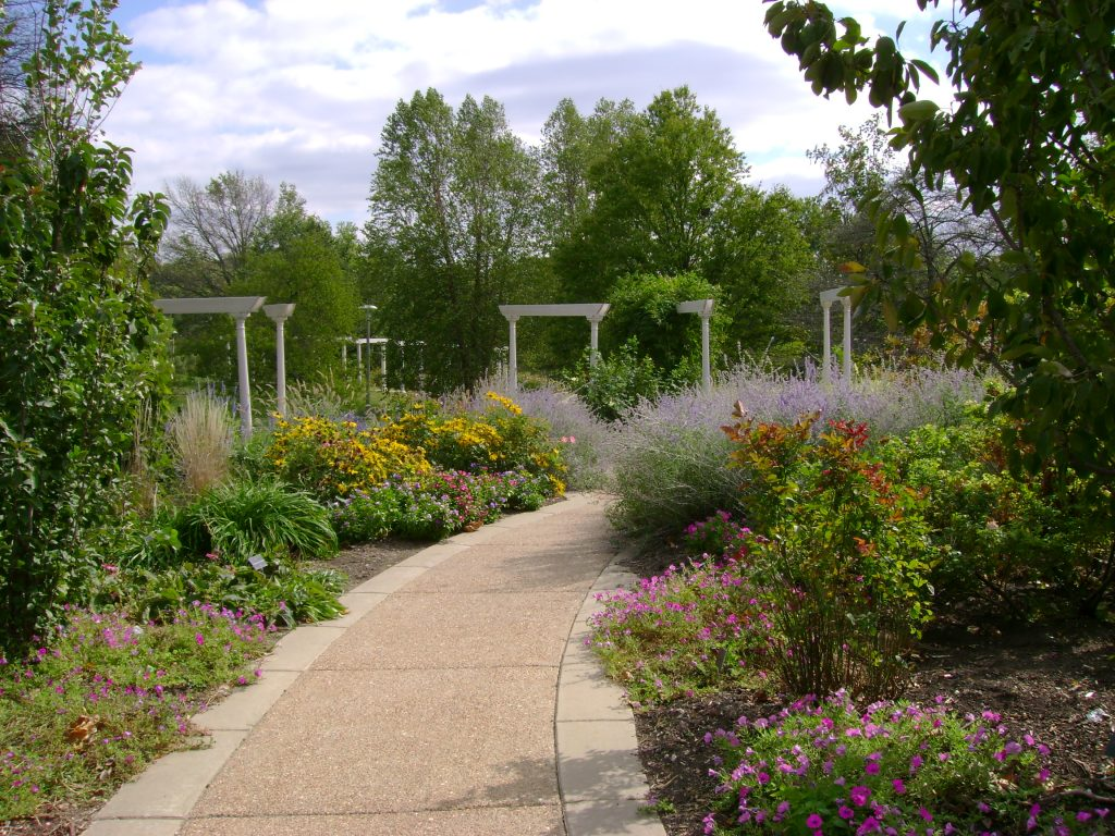 Perennial Border at Washington Park Botanical Garden Springfield IL by FlowerChick.com