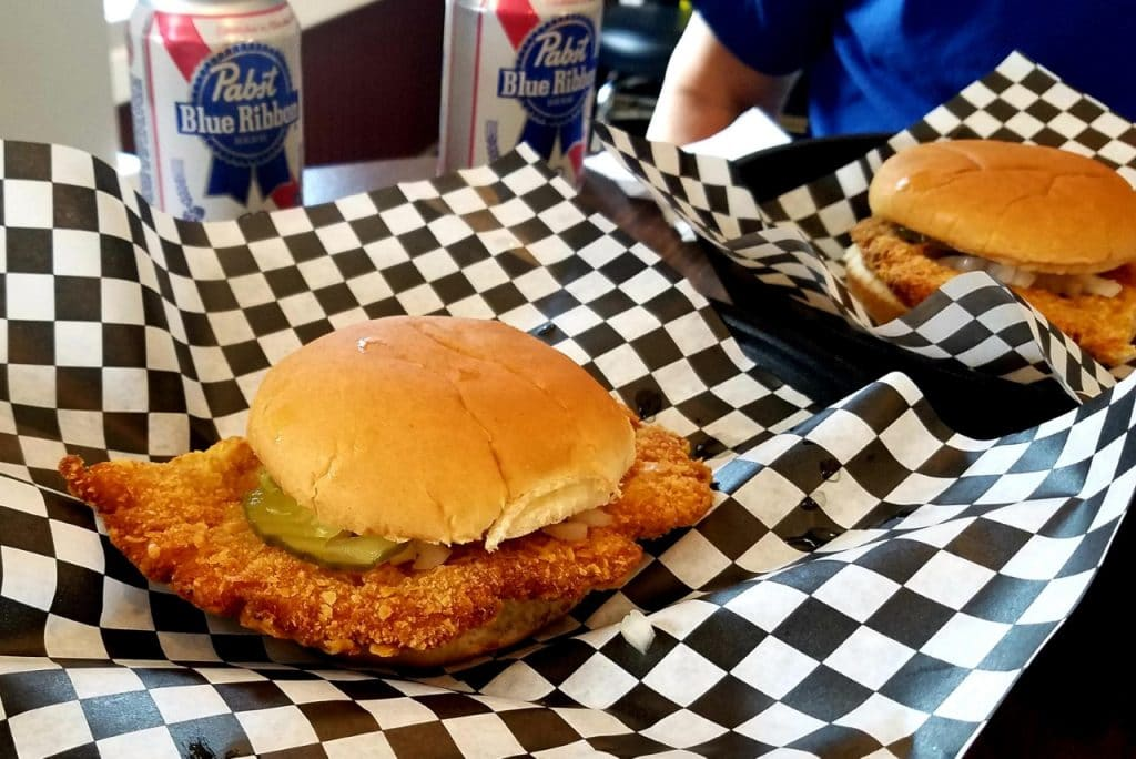 Excellent Pork Tenderloin Sandwiches At Hallers Bar Burlington IA