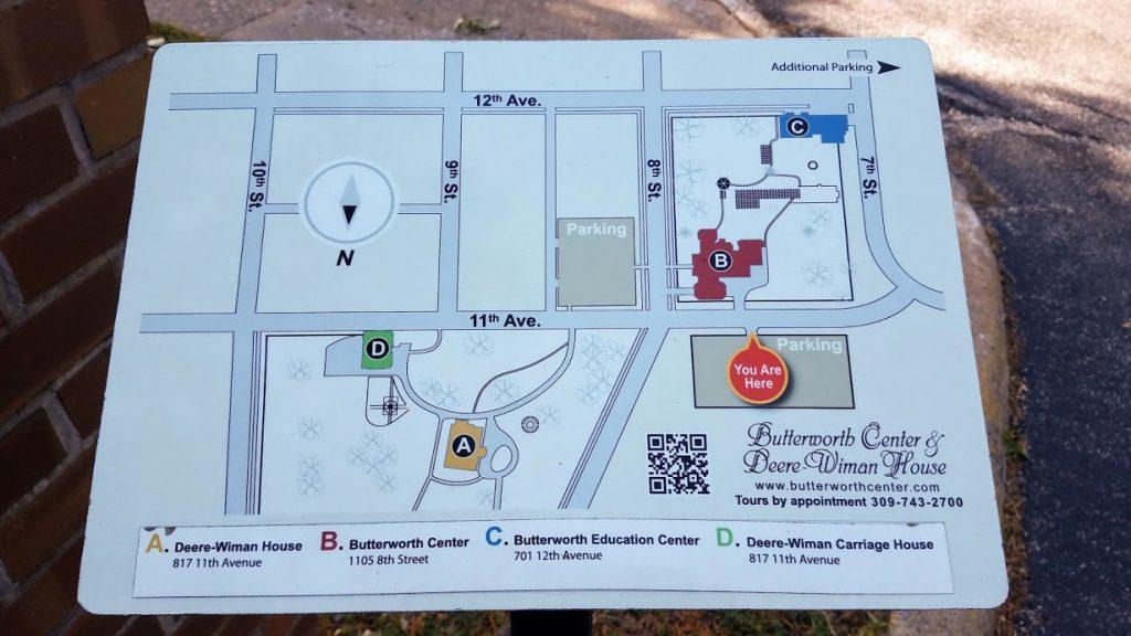 Deere-Wiman House & Butterworth Center Sign by FlowerChick.com