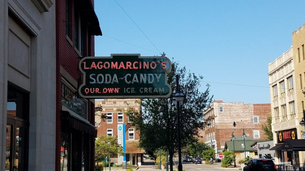 Lagomarcno's Vintage Sign by FlowerChick.com