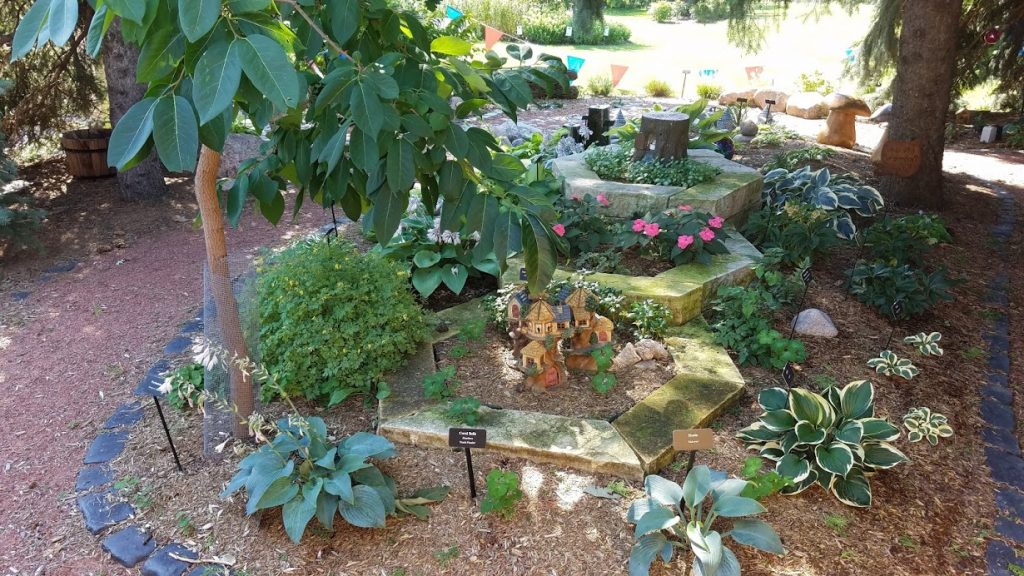 Pat's Fairy Garden at Quad City Botanical Center by FlowerChick.com