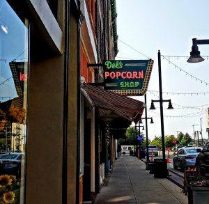 Del's Popcorn Retro Neon Sign by FlowerChick.com