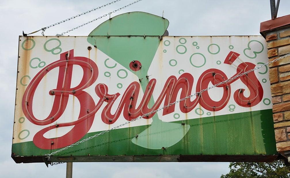 Bruno's Liquors Sign by FlowerChick.com
