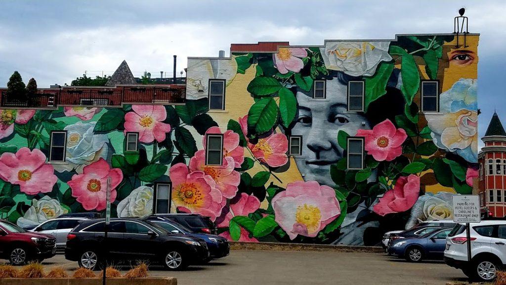 Downtown Dubuque Floral Mural by FlowerChick.com