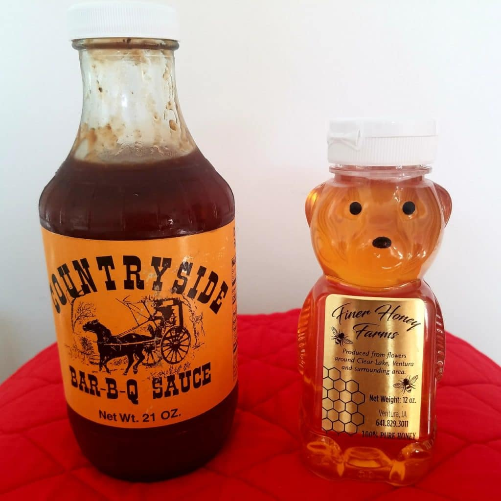 Barbecue Sauce and Honey fromLouie's Meats Clear Lake Iowa by FlowerChick.com