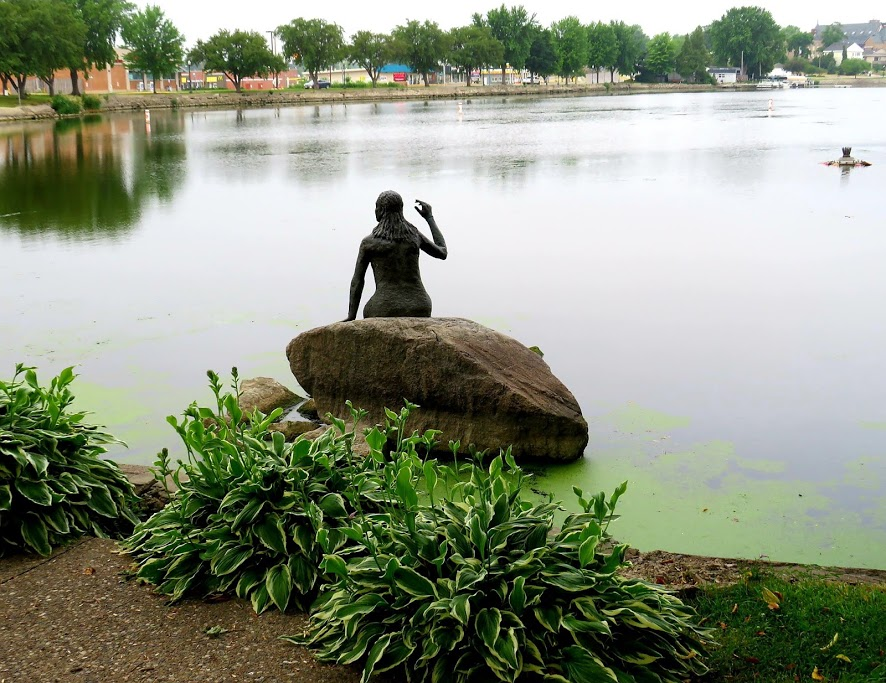 The Mermaid Statue and Lake View at New Denmark Park by FlowerChick.com