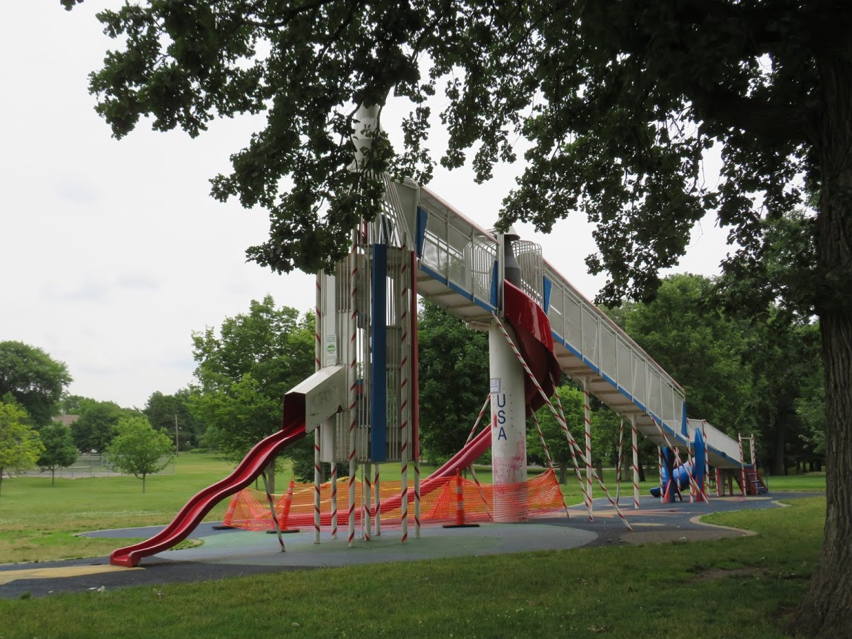 Rocket Slide in Union Park by Flower Chick