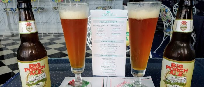 Big Porch Ale at the Cuploa Bar at The Grand Hotel