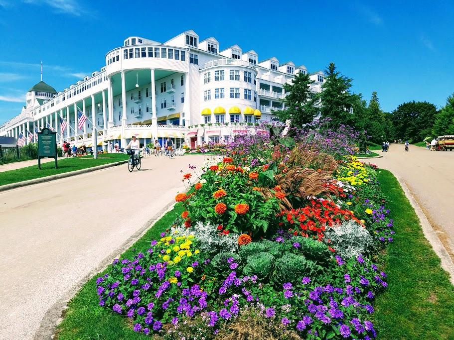 Grand Hotel Gardens Mackinac Island by FlowerChick.com