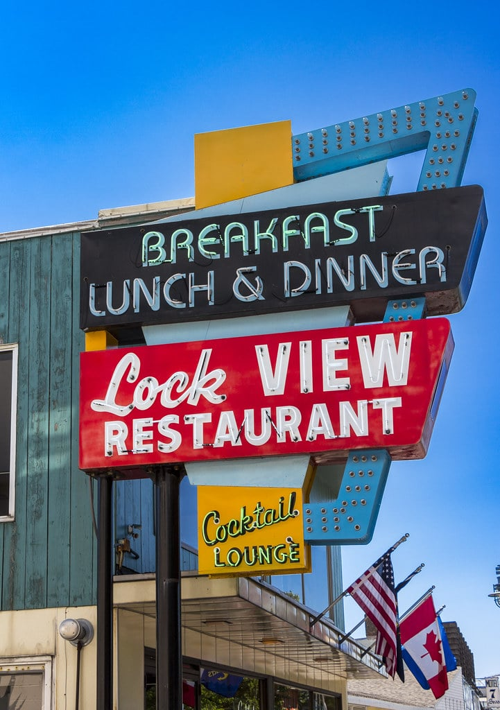 Lock View Restaurant Sign by FlowerChick.com