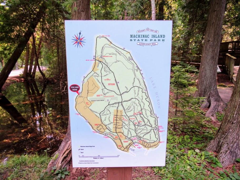 Mackinac State Park Map by FlowerChick.com