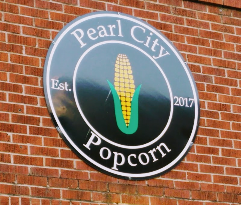 Pearl City Popcorn Sign Muscatine IA